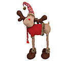 DECOR STANDING XMA MOOSE/RED SWEATER