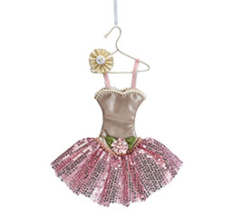 BALLERINA DRESS ON HANGER ORNAMENT