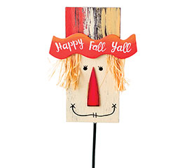 PICK WOOD HAPPY FALL Y'ALL SCARECROW