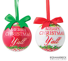 """3"""" MERRY CHRISTMAS YALL ORNAMENT"""
