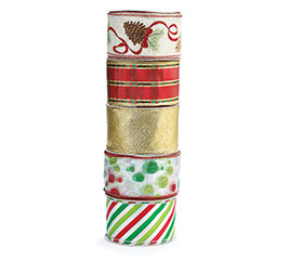 #40 ASSORTED CHRISTMAS RIBBON