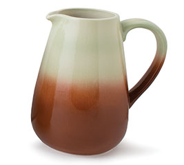 VARIGATED GREEN TO BROWN PITCHER