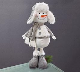 EXPANDABLE LEG SNOWMAN WITH WINTER HAT