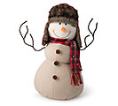 DECOR NATURAL COLOR SNOWMAN WITH HAT