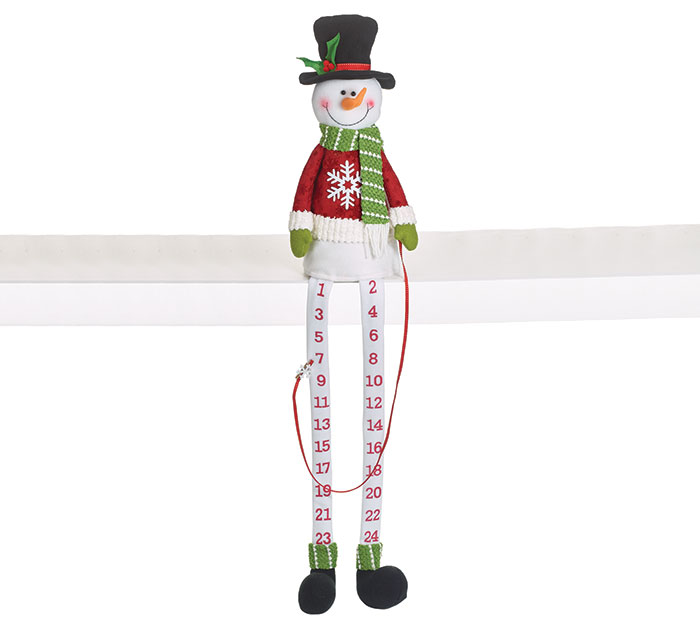 ADVENT CALENDAR SNOWMAN DANGLE LEGS