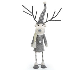 BOBBLE REINDEER WHITE WITH GRAY SWEATER