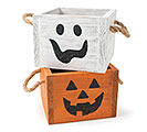 ASTD GHOST  JACK-O-LANTERN PLANTER SET