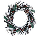 CHRISTMAS WREATH WITH GREENERY/PINECONES