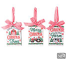 GIFT TAG ORNAMENT WITH ASTD FARM DESIGN