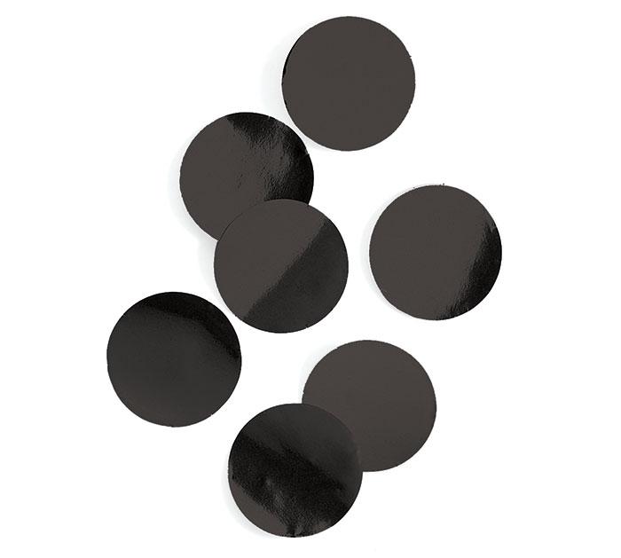 BLACK FOIL DOT CONFETTI
