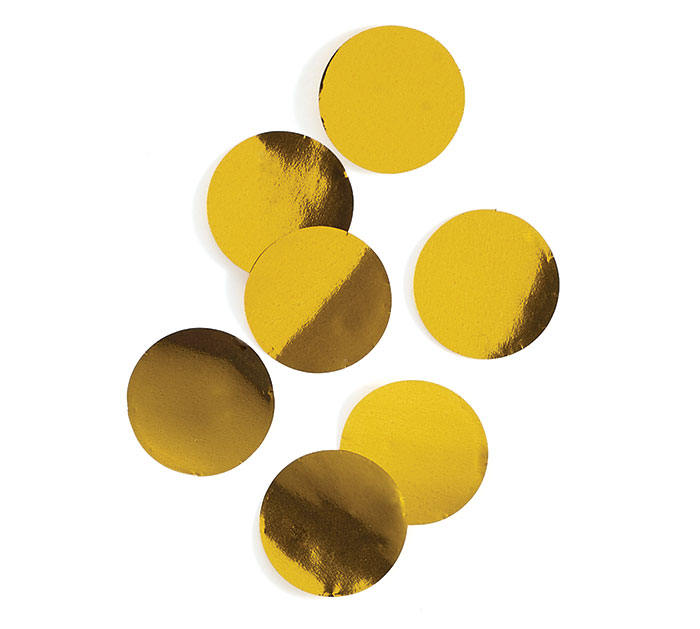 GOLD METALLIC FOIL DOT CONFETTI