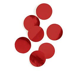 RED METALLIC FOIL DOT CONFETTI