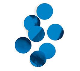 ROYAL BLUE METALLIC FOIL DOT CONFETTI
