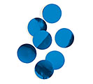 ROYAL BLUE METALLIC FOIL DOT CONFETTI