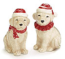 CHRISTMAS DOGS SALT  PEPPER SHAKERS