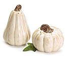 CREAM PUMPKIN SALT  PEPPER SHAKERS