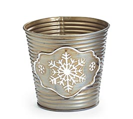 "4"" RIBBED SNOWFLAKE POT COVER"