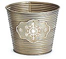 "6"" RIBBED SNOWFLAKE POT COVER"