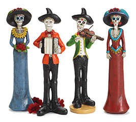 FIGURINE INSTRUMENTAL DUO DAY OF DEAD