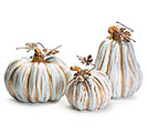 DECOR BLUE GOLD PUMPKINS