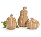 RESIN WOOD GRAIN PUMPKINS