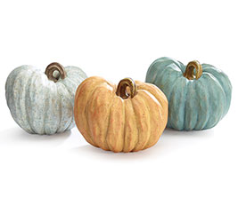 SOLID PUMPKINS IN 3 COLORS RESIN
