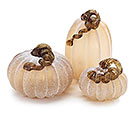 GLASS PUMPKINS DECOR IN 3 SIZES