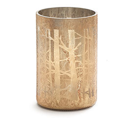 GOLD VASE WITH TREE BRANCH BACKGROUND