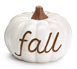 IVORY PUMPKIN WITH FALL IN BROWN COLOR