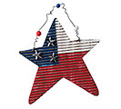 PATRIOTIC TIN STAR ORNAMENT