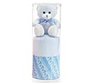 BLUE BEAR AND BLANKET IN PVC TUBE 1st Alternate Image