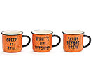 ORANGE/BLACK HALLOWEEN MUG SET