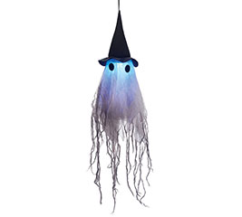 "16"" HANGING GHOST WITH LIGHT  SOUND"