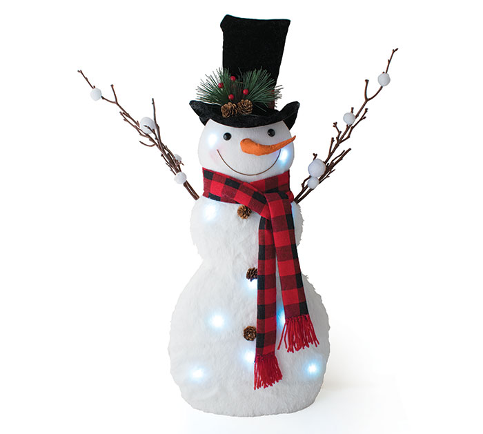 6c365b8429159 Product Details. LIGHT UP SNOWMAN WITH VELVET TOP HAT