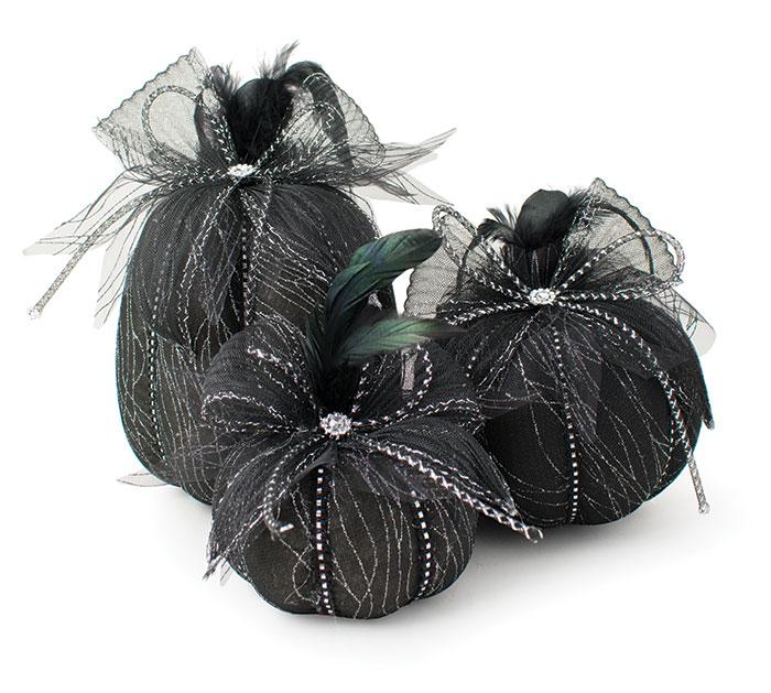 BLACK VARIED PUMPKINS SPIDER WEB OVERLAY