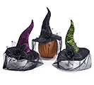 ASTD COLOR WITCH HATS WITH VEIL