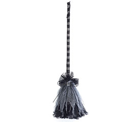 BLACK BROOM DECOR W/ MOVEMENT  SOUND