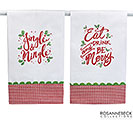 ASSORTED CHRISTMAS MESSAGE TEA TOWELS