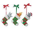 ORNAMENTS CAT IN STOCKING ASSORTMENT