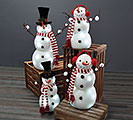 LIGHT UP SNOWMAN FAMILY TOP HATS/EARMUFF