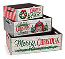 NESTED PLANTERS WITH CHRISTMAS MESSAGES