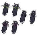 ASSORTED COLOR VELVET HALLOWEEN GLOVES