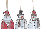 ORNAMENT SANTA CLAUS  SNOWMEN