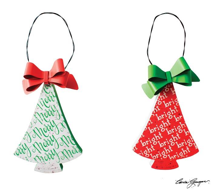 CHRISTMAS TREE SHAPE ORNAMENT ASSORTMENT