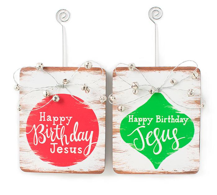 HAPPY BIRTHDAY JESUS ORNAMENTS