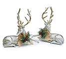 SILVER DEER WITH BRUSHED GOLD DEER