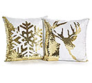 SEQUIN PILLOW WITH REVERSIBLE PATTERNS