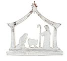 SILVER WOOD NATIVITY SHELP SITTER