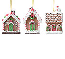 RESIN GINGERBREAD HOUSE ORNAMENTS