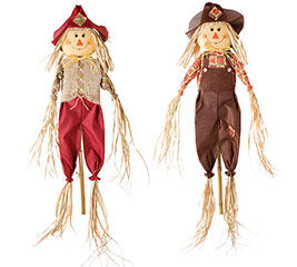 LARGE SCARECROW ASTD WITH BAMBOO POLE
